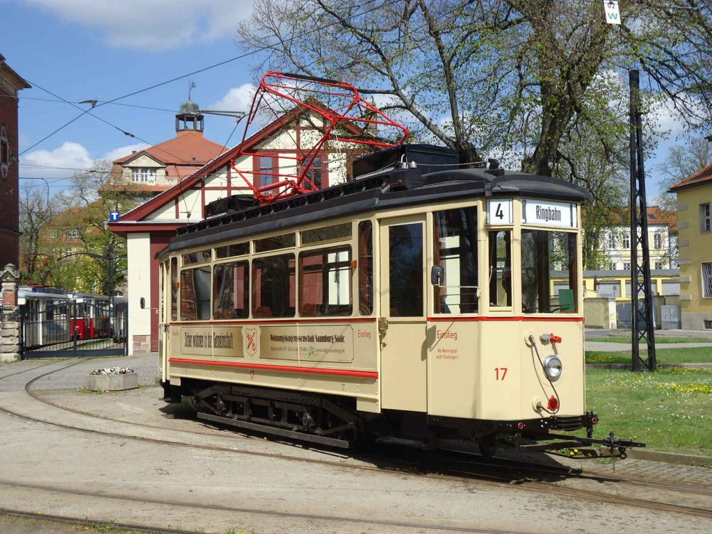 Die Wohnungsbaugenossenschaft auf der Naumburger Straßenbahn